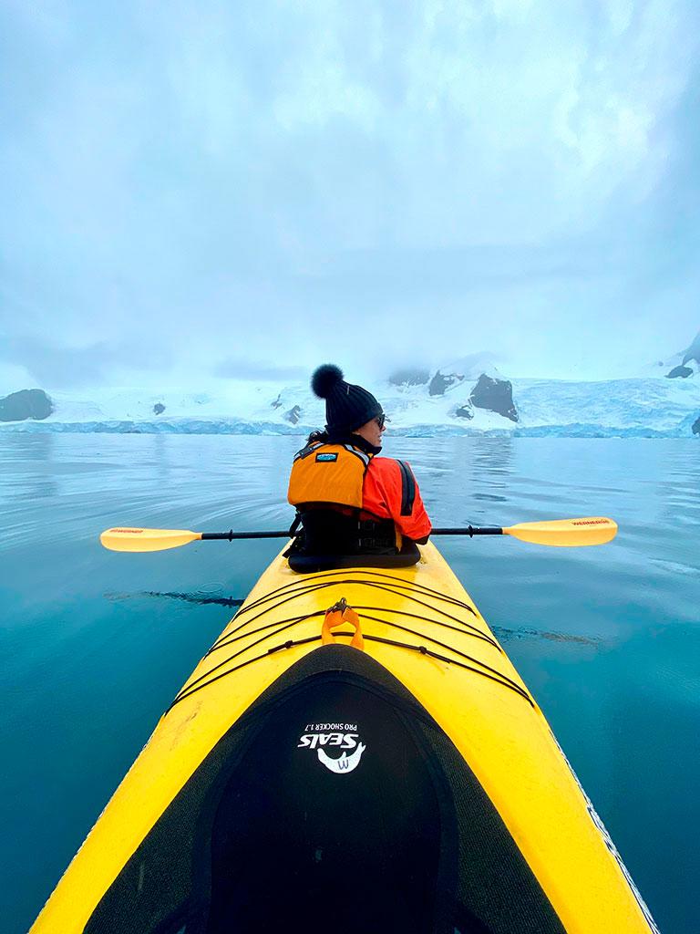 Daniela Filomeno na Antártida (Foto: acervo pessoal)