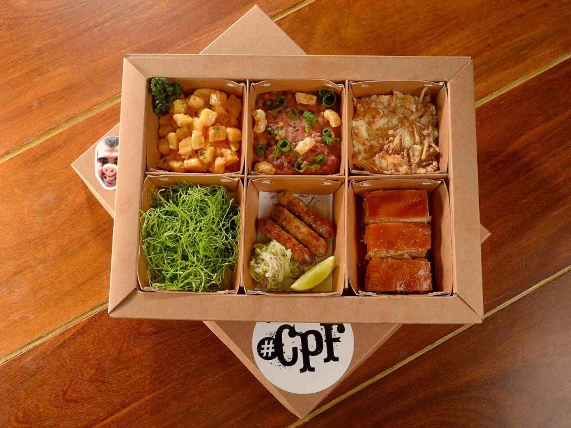 #CPF – Caixa Prato Feito no novo delivery do incrível A Casa do Porco (Foto: divulgação)