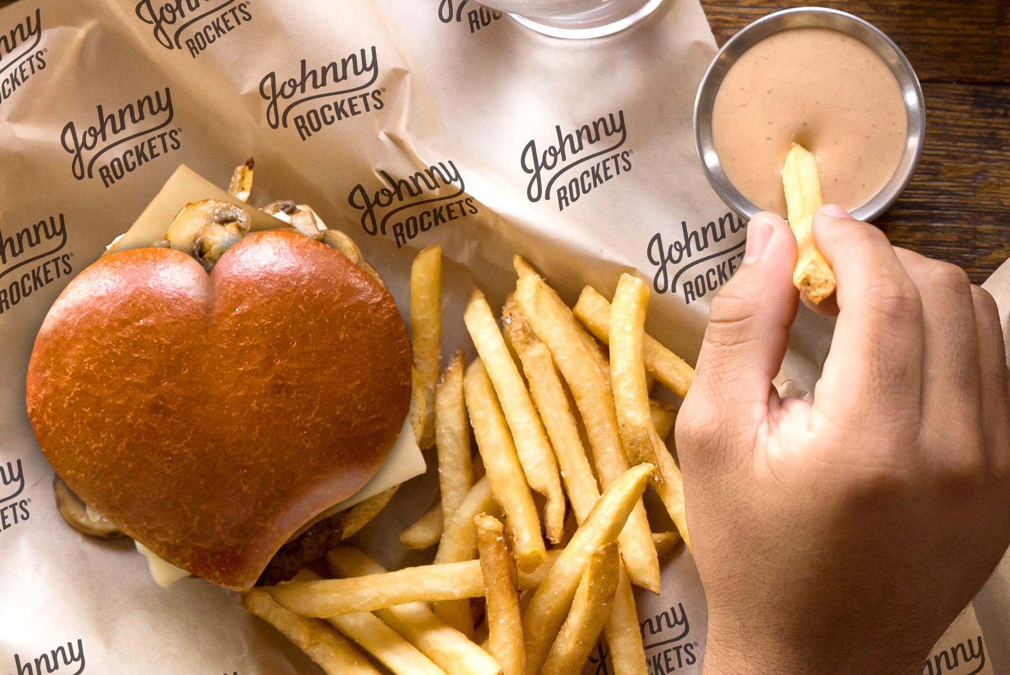 Johnny Rockets - Heart Burger