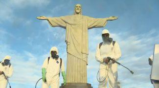 RJ: Cristo Redentor passa por desinfecção antes de reabertura