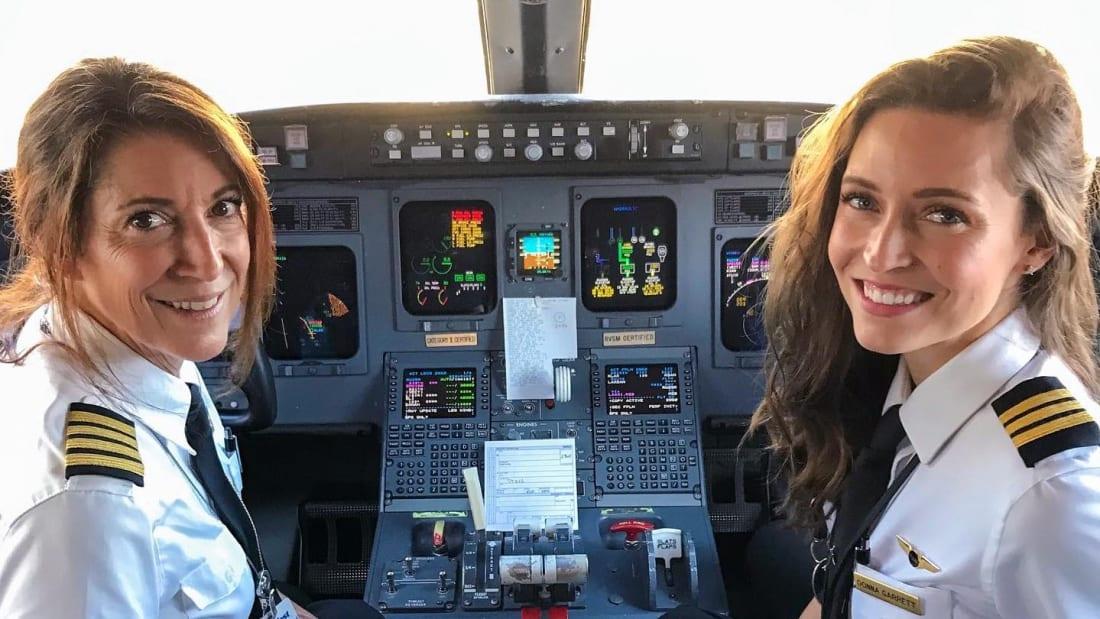 Mãe e Filha aviadoras