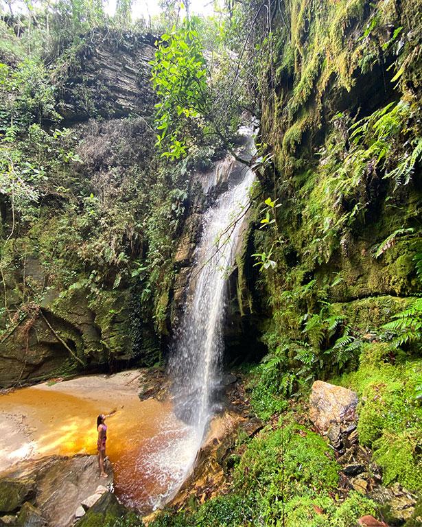 Daniela Filomeno na Cachoeira do Gritador (Foto: acervo pessoal)