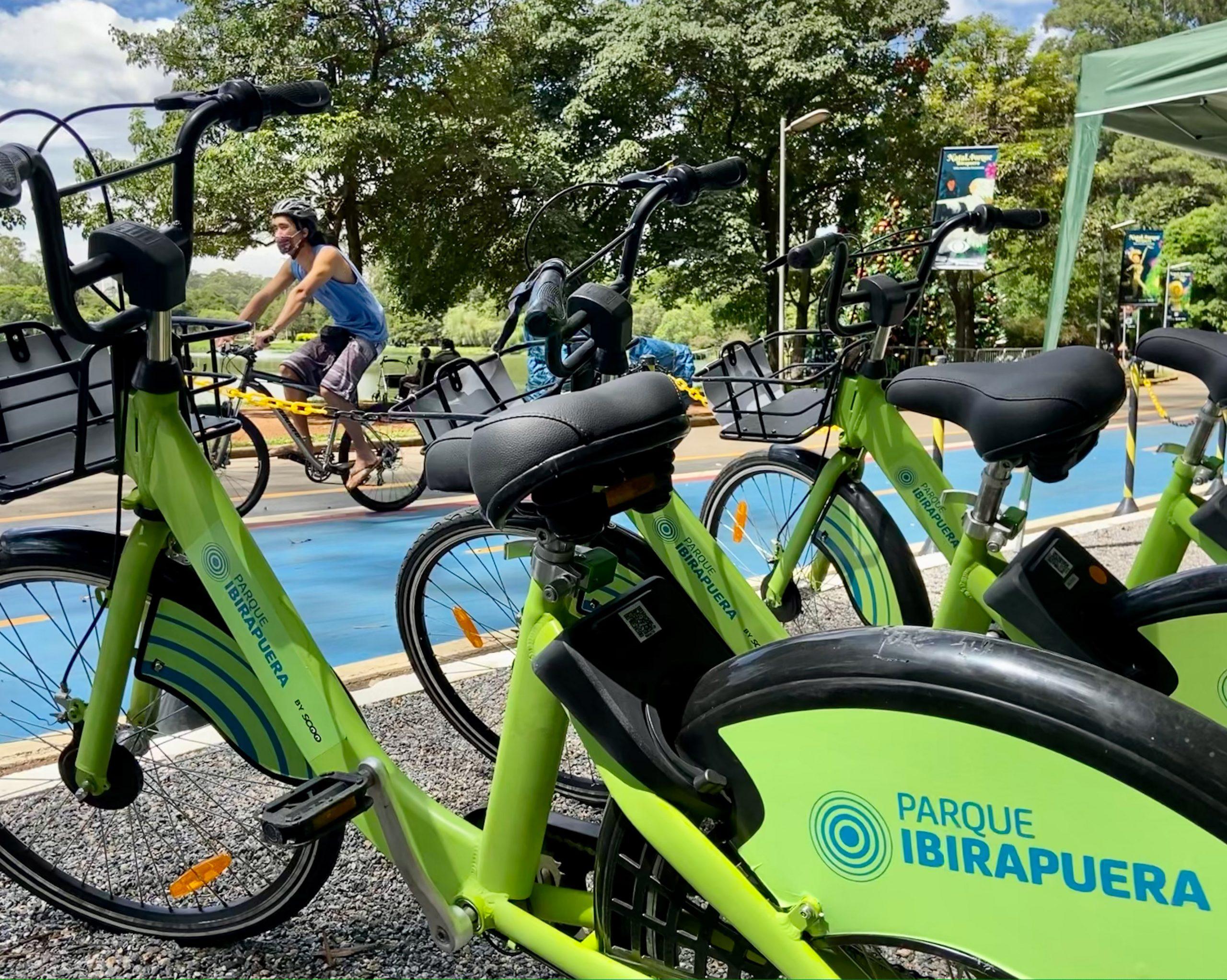 Parque agora possui aplicativo para aluguel de bicicletas (Foto: divulgação)