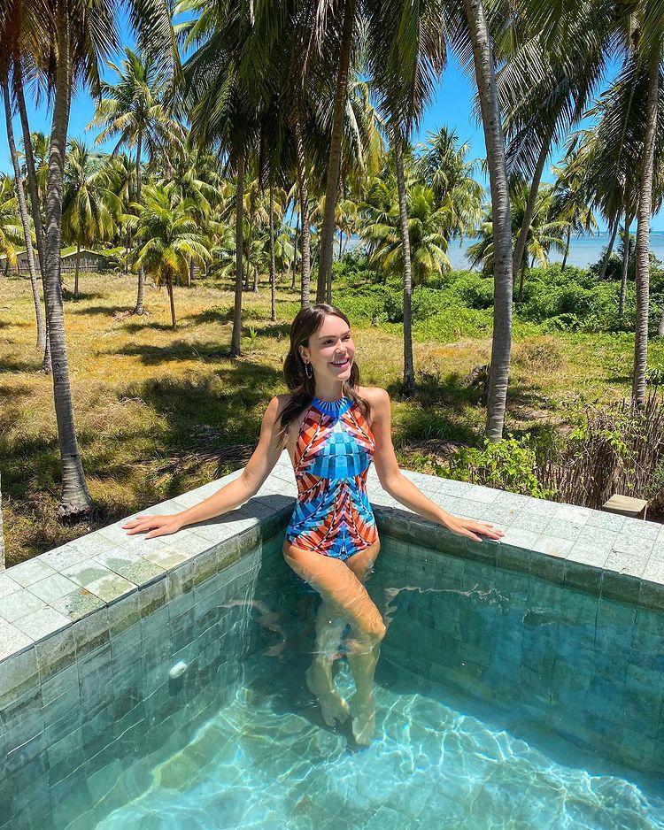 Lari Duarte indica a Praia do Patacho como destino ideal de férias (Foto: acervo pessoal)
