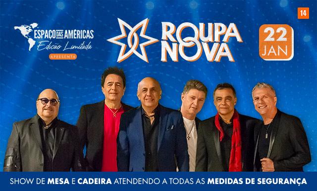 Roupa Nova também se apresentará no local para público sentado (Foto: Divulgação)