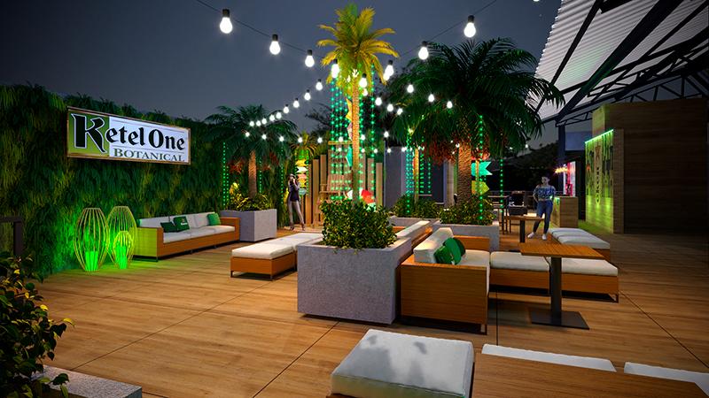 rooftop beach club