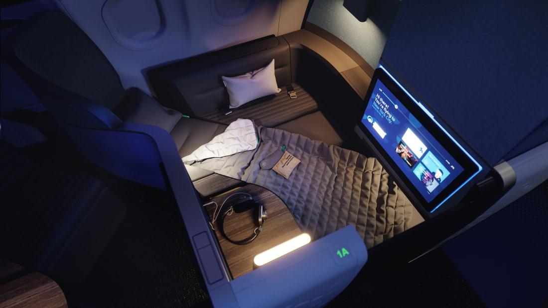 Revolução no ar: avião recebe uma das maiores camas em classe executiva