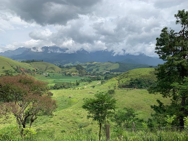 Vista da Fazenda Santa Vitória (foto: Tina Bini)