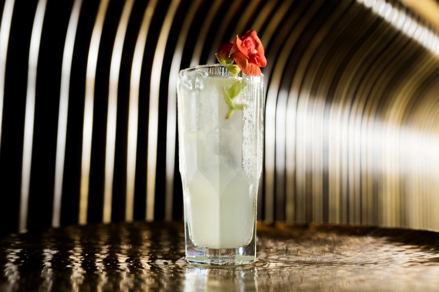 Foto do Acônito, drink autoral do SEEN, em SP