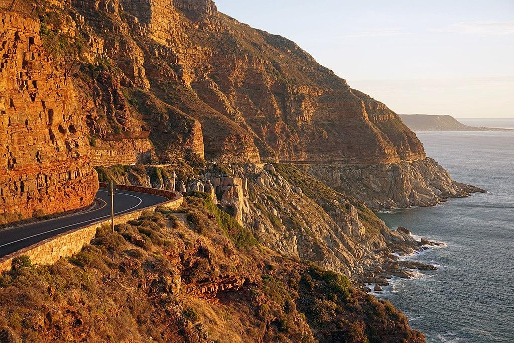 Foto na encosta da Chapmans Peak Drive 1, na África do Sul