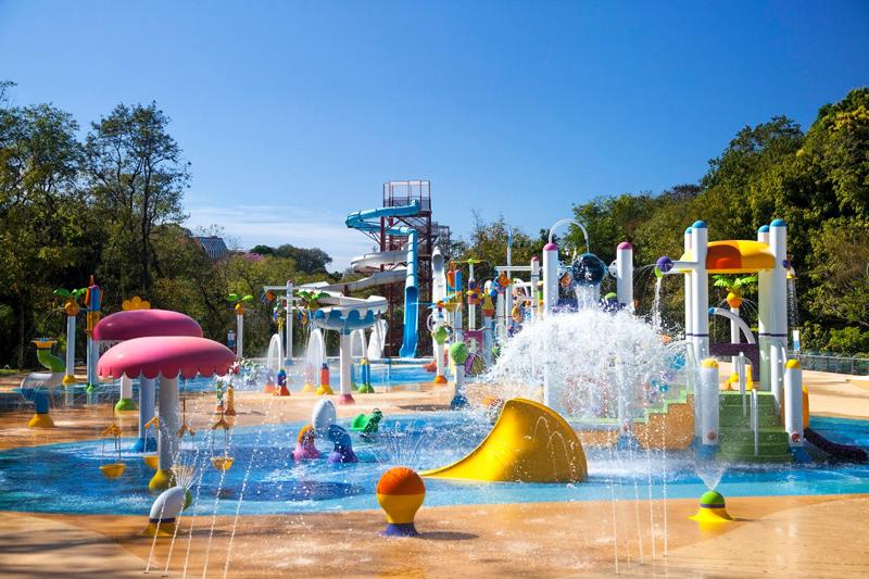 Foto do parque aquático outdoor do Grande Hotel Águas de São Pedro