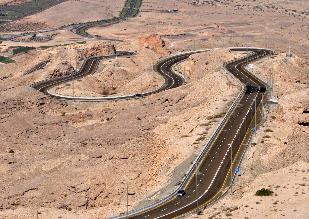 Jebet Hafeet, estrada nos Emirados Árabes Unidos