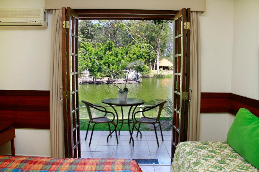 Detalhes de um dos quartos do Hotel Mazzaropi, em Taubaté