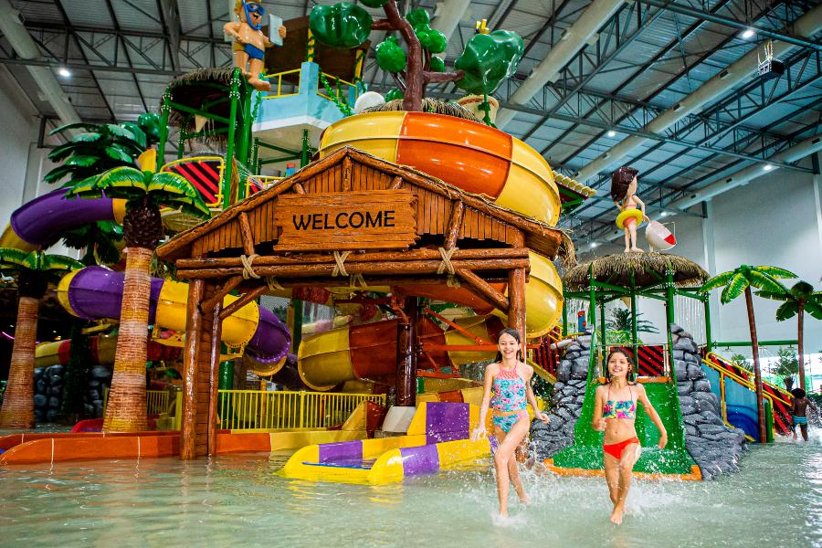 Parque indoor do Tauá em Atibaia