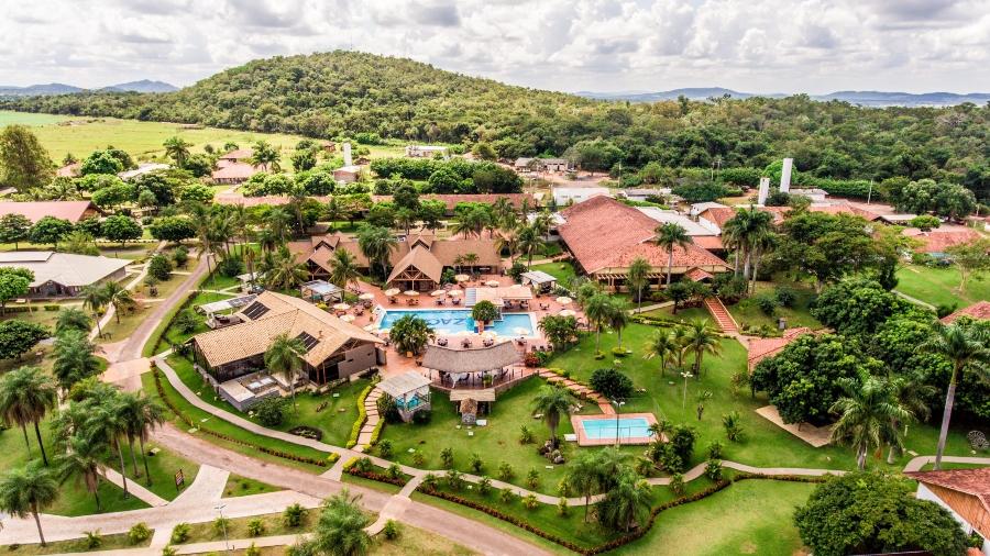 Foto aérea do Zagaia Resort em Bonito