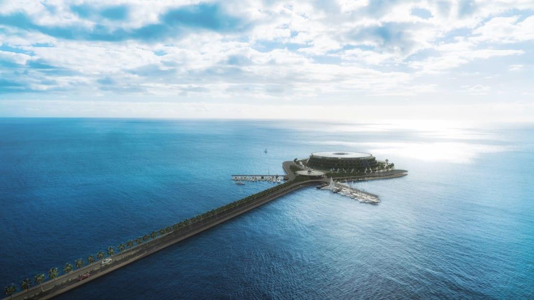 Luxo e sustentabilidade: Qatar quer construir resort flutuante que produz a própria energia