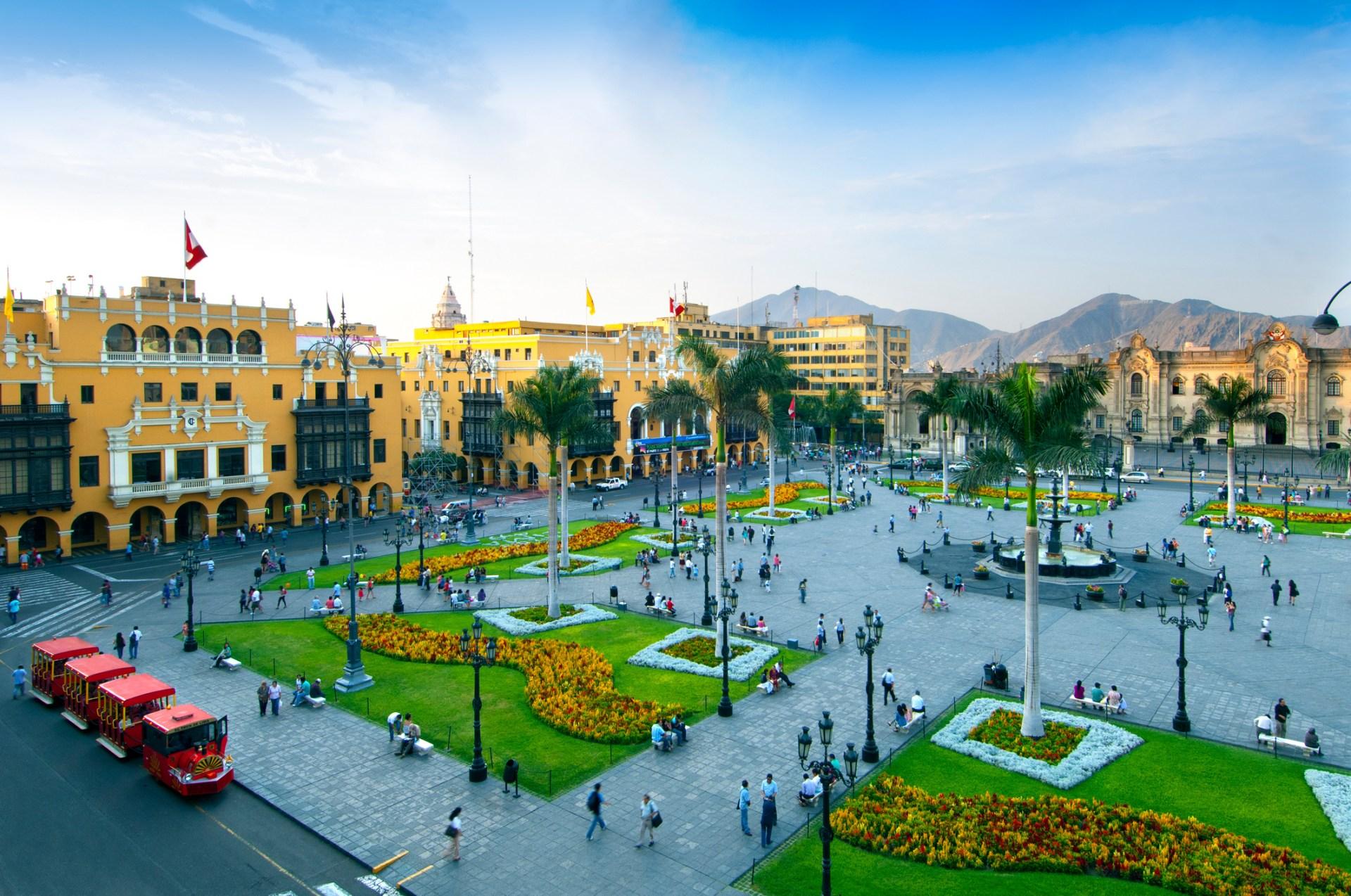 Praça das Armas, em Lima, no Peru