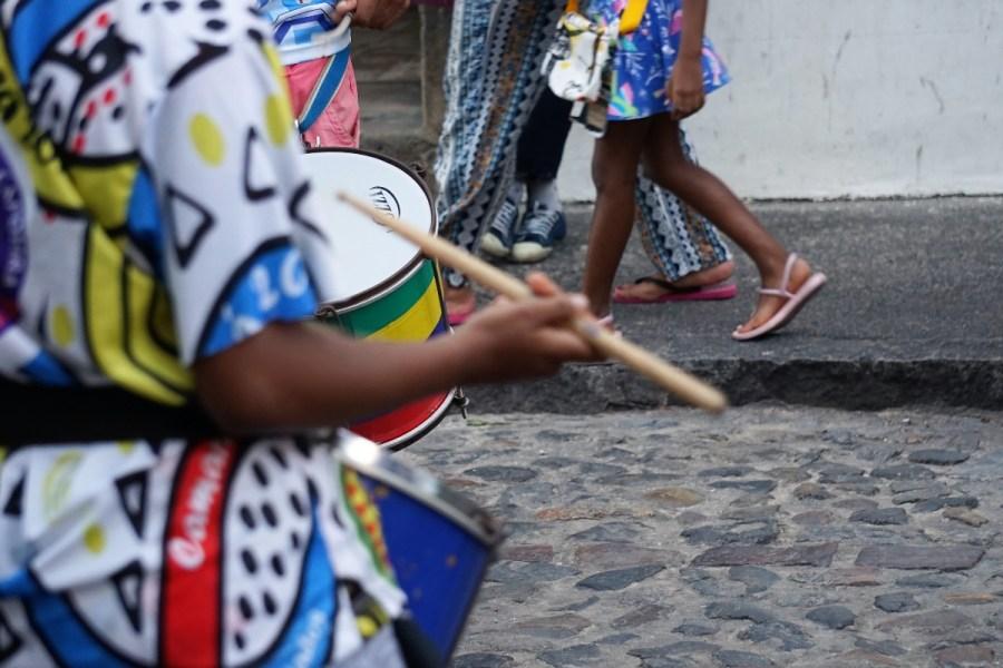 Banda toca no Pelourinho, em Salvador