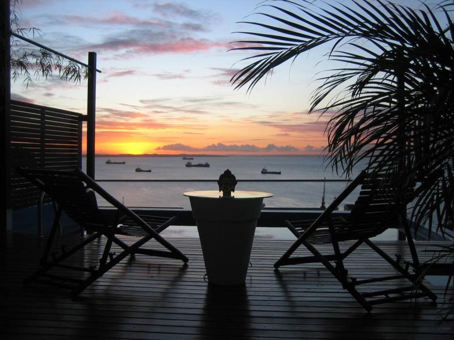 Vista para Baía de Todos os Santos da Top Suíte do Aram Yami, em Salvador