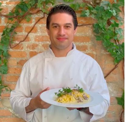 Foto do Chef Carlos Leiva, do Osteria Nonna Ros