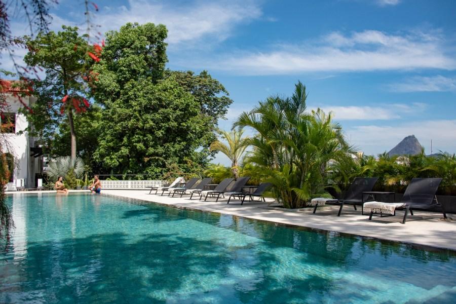 Piscina do Villa Paranaguá, hotel em Santa Teresa (RJ