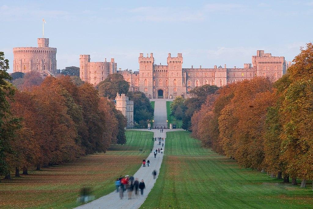Castelo de Windsor no pôr do sol