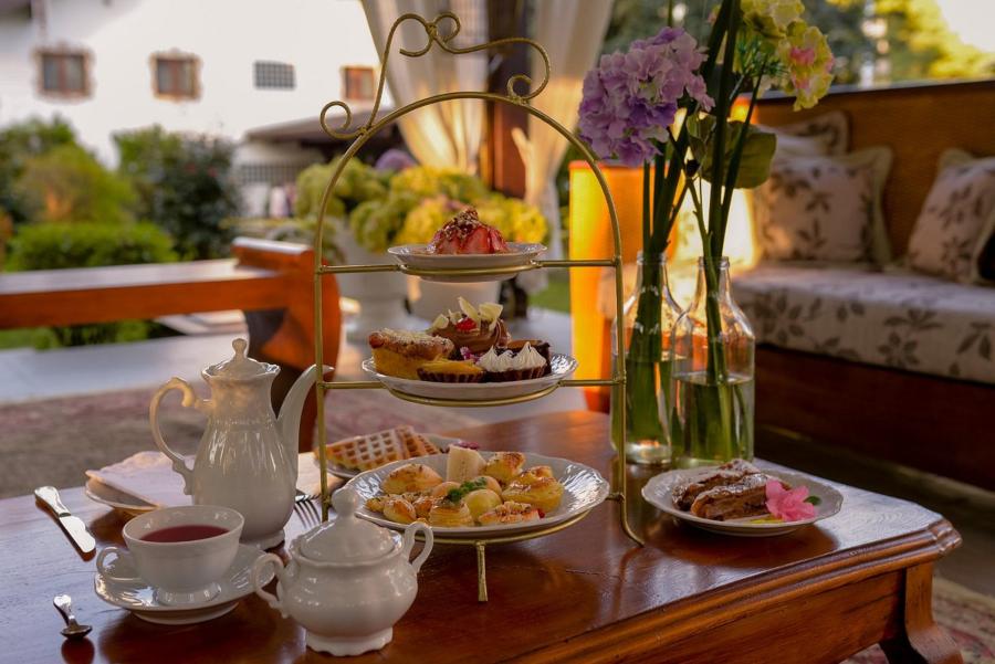chá da tarde do restaurante hoppner