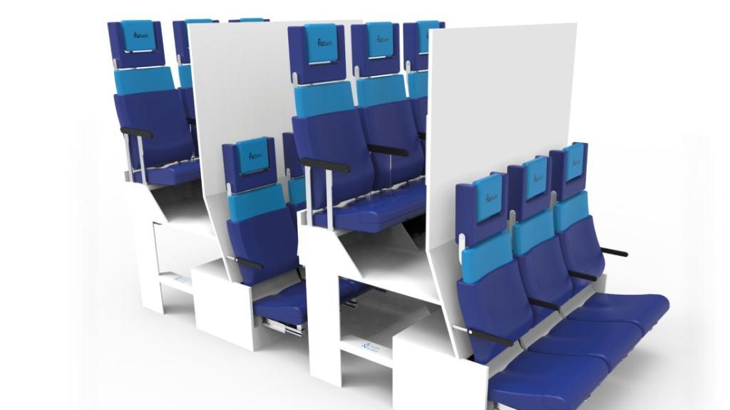 Projeto de assentos da classe econômica