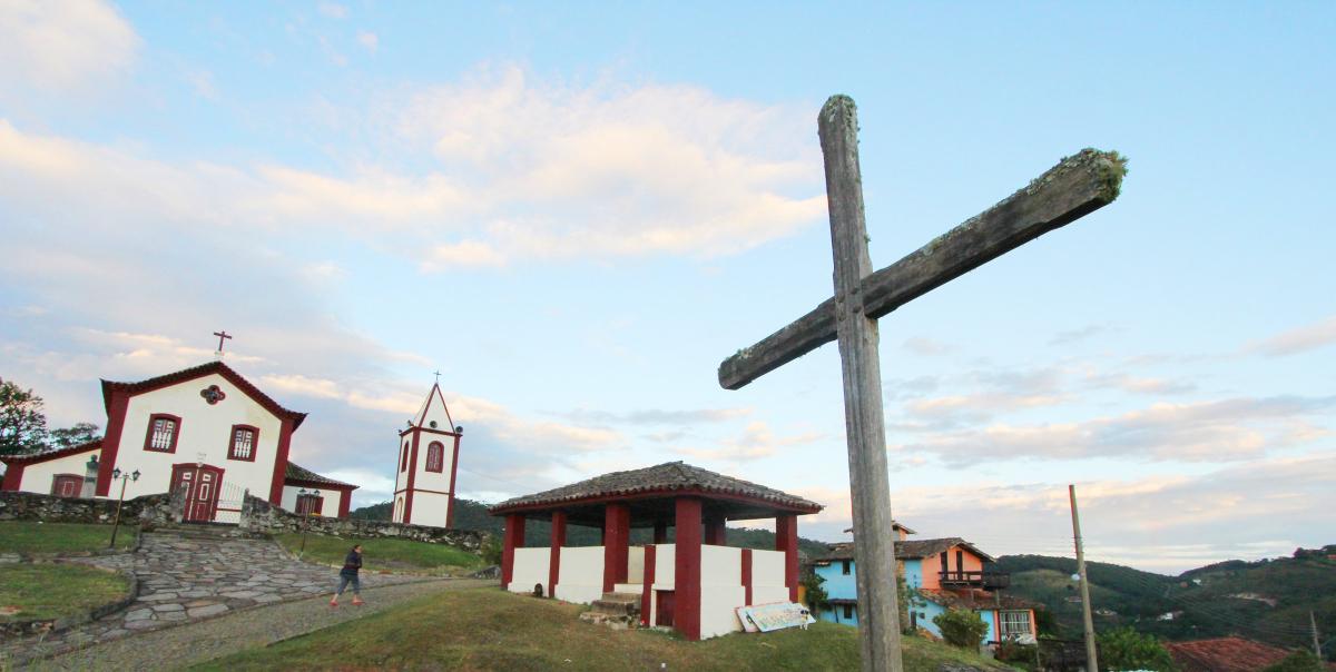 Foto da igreja matriz da vila conceição do ibitipoca