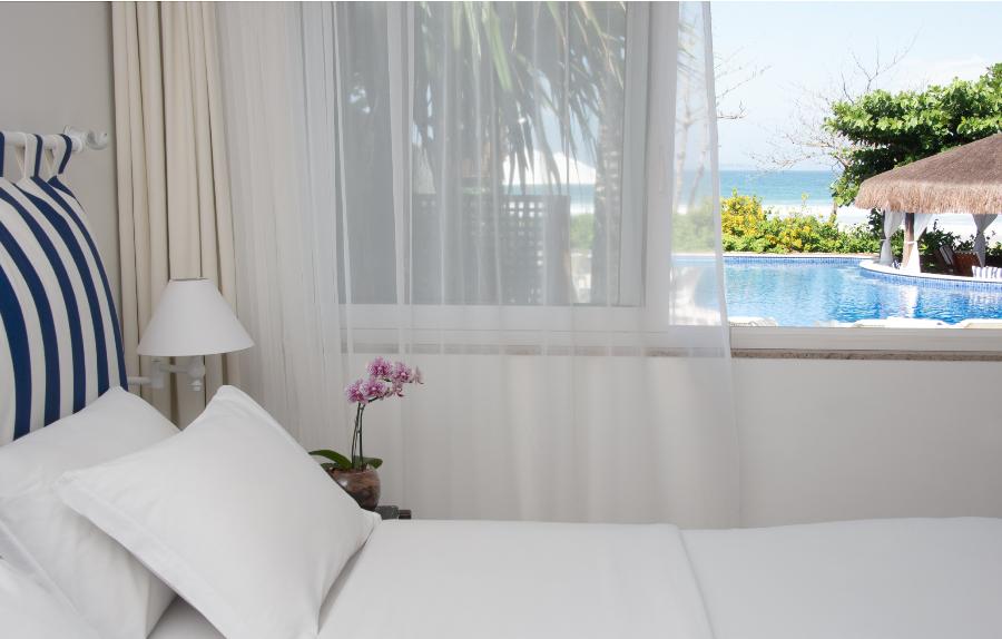 Apartamento com vista para o mar e piscina do La Borie Búzios