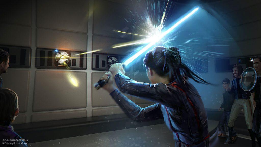 Arte conceitual do sabre de luz no star wars hotel