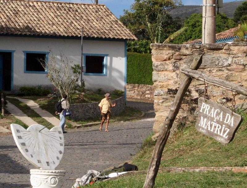 Foto do centro da vila conceição do ibitipoca