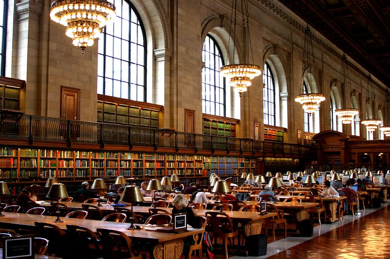 Interior da Biblioteca Pública de NY