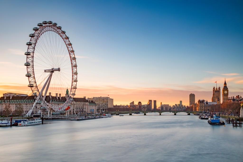 Visão de Londres, com destaque para a London Eye