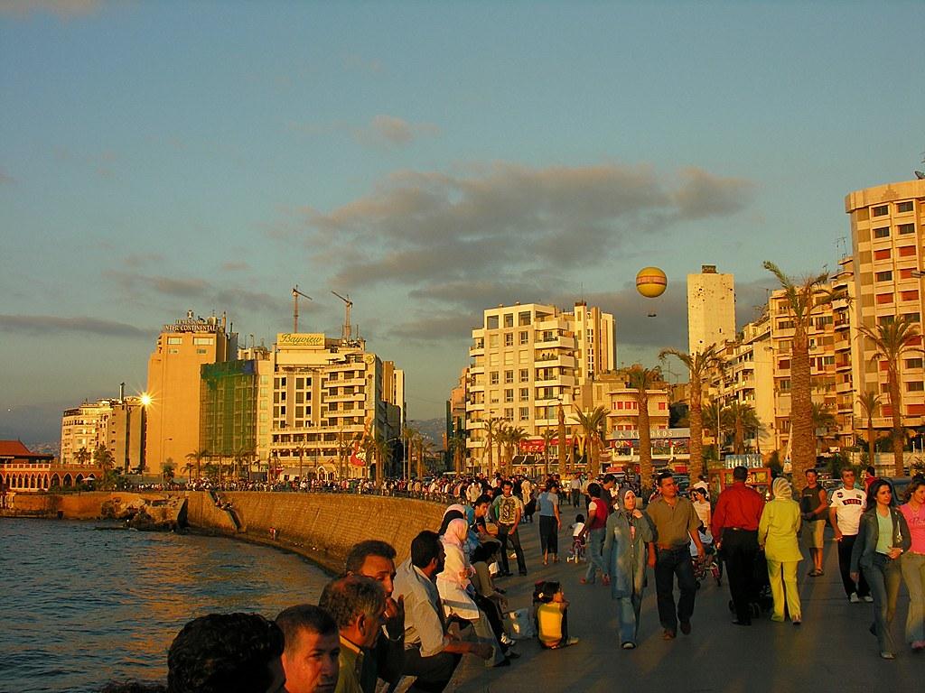 Corniche em Beirute