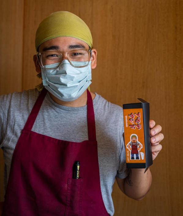 Chef Toshi Akuta, à frente do Amo-te-sando
