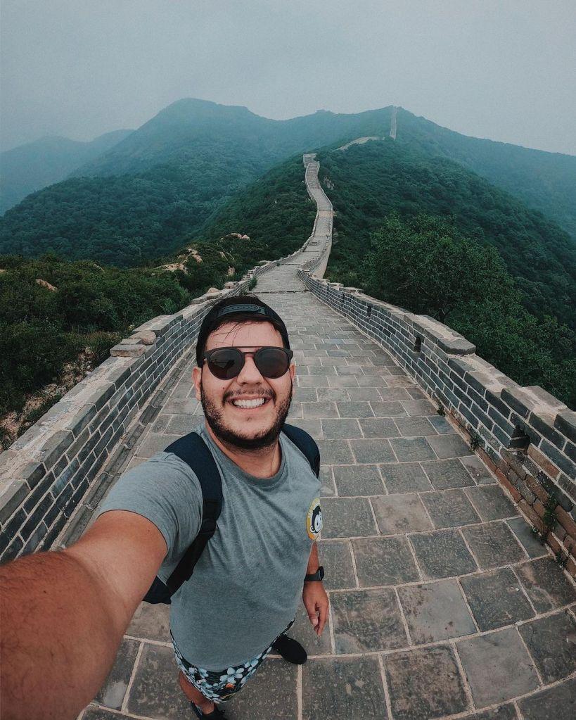 Anderson Dias na Muralha da China