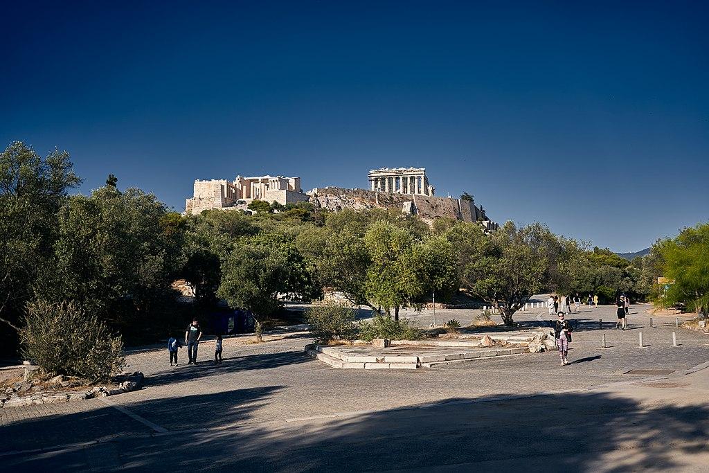 Área de pedestres da Acrópole de Atenas