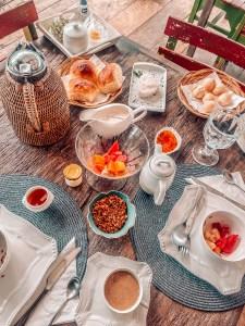 Café da manhã na Casa dos Arandis