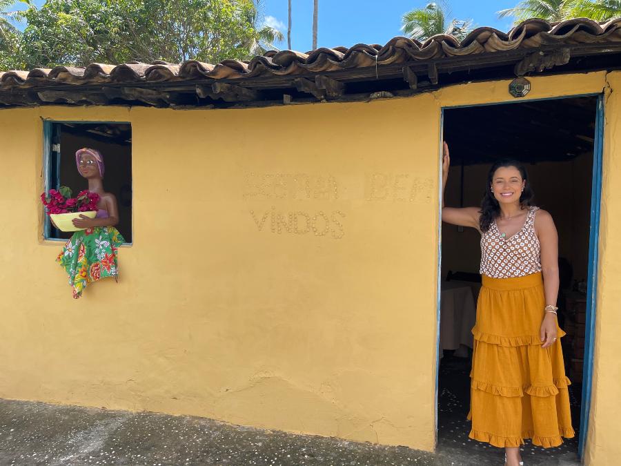Dani Filomeno na Toca da Guaaja, em Santo Amaro do Maranhao
