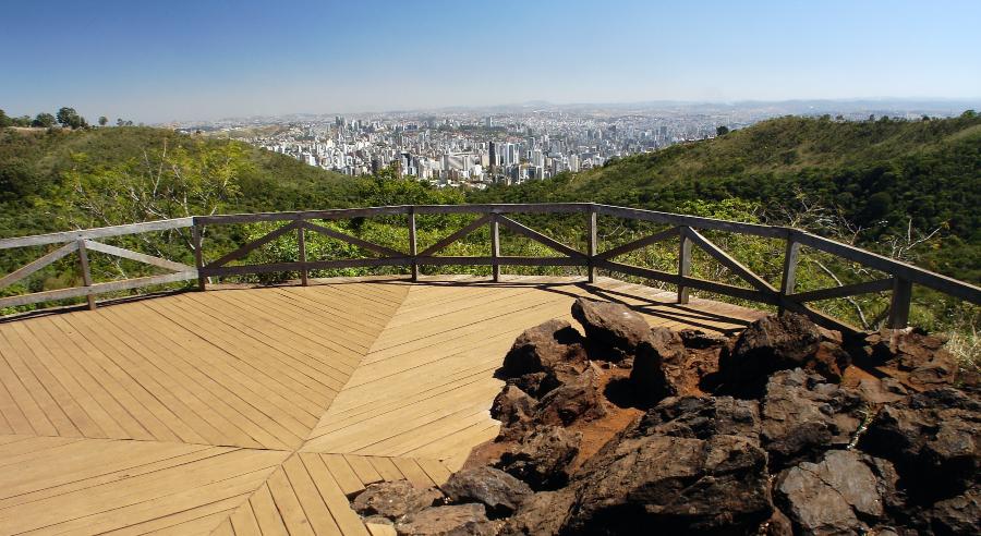 Mirante da Mata no Parque das Mangabeiras, em Belo Horizonte