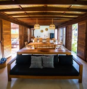Interior Villa Kandui em Maraú