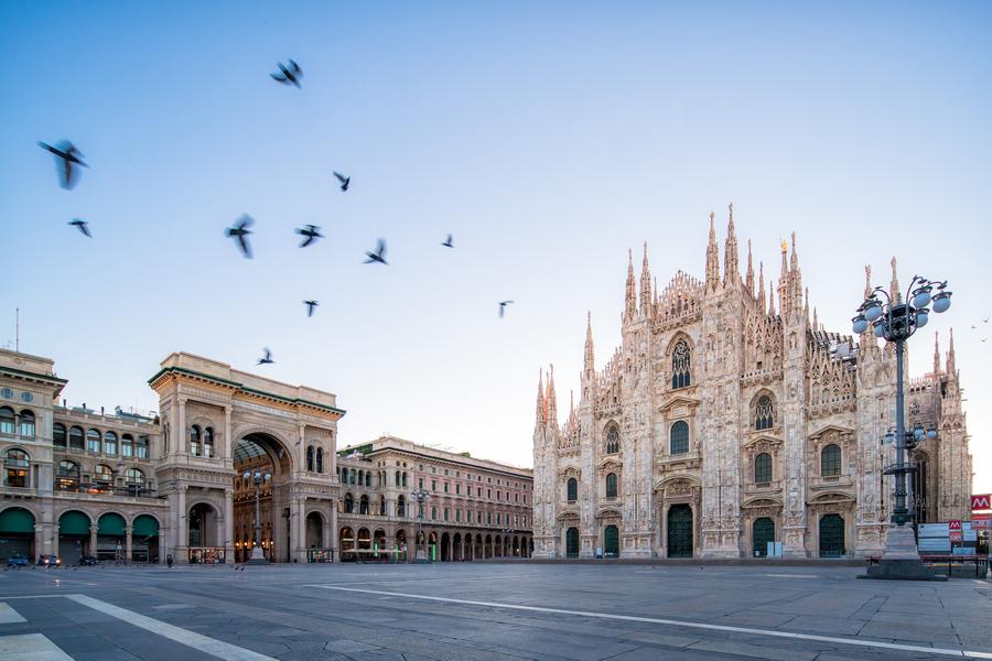 Piazza Duomo, Milao, Italia