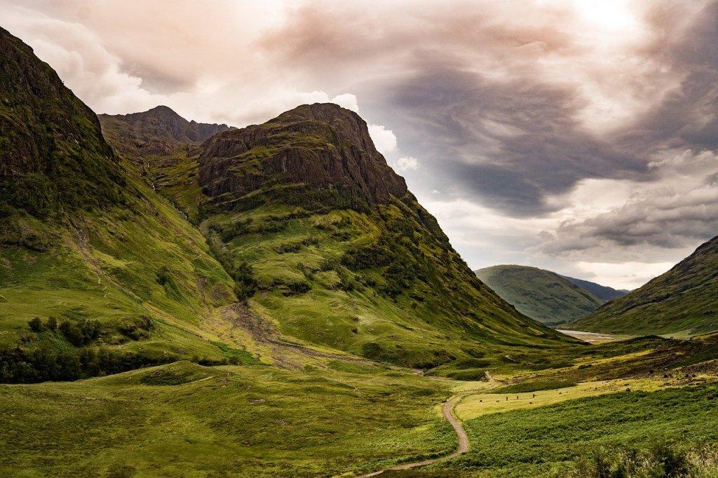 Vale de Glencoe, na Escocia