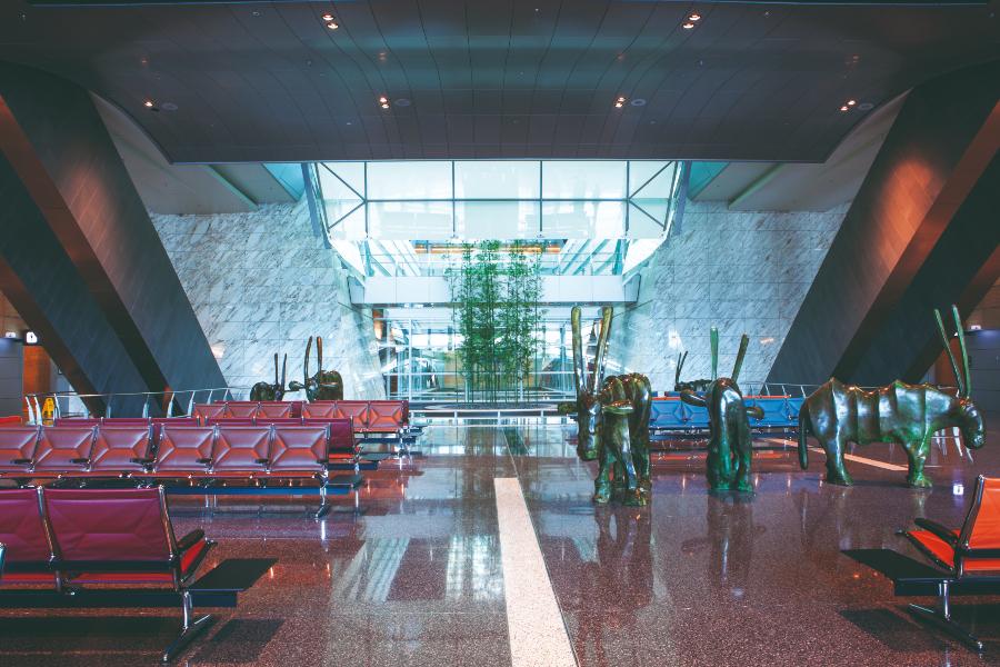 interior do aeroporto de doha
