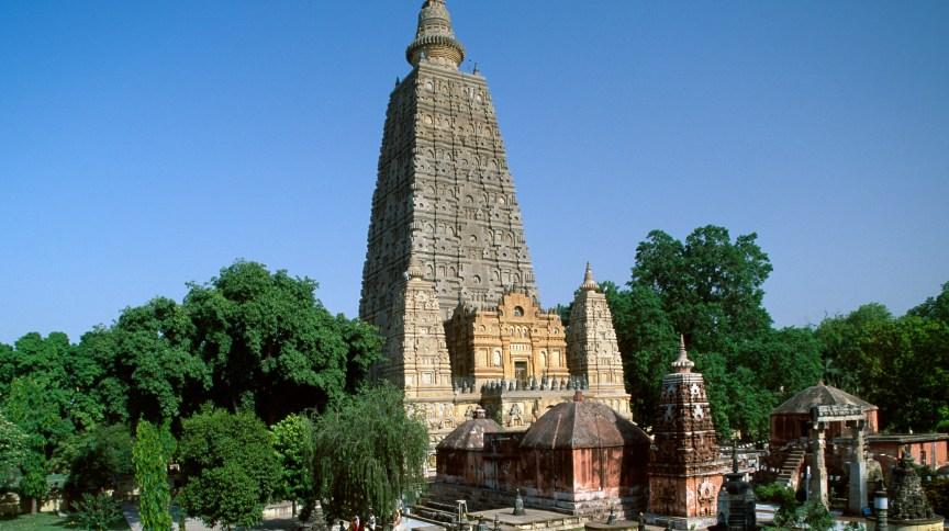 Templo Mahabodhi, em Bodhgaya, na Índia