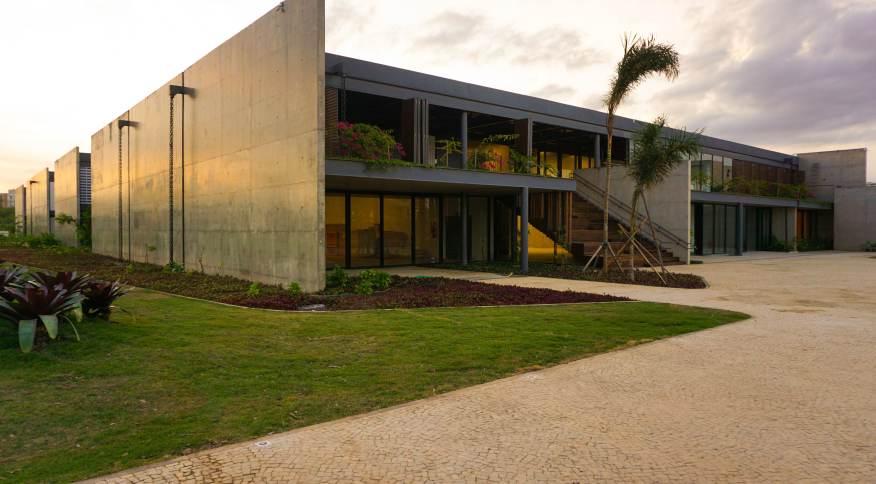 Fachada no Museu do Pontal, que apresenta maior e mais importante acervo sobre a arte popular brasileira