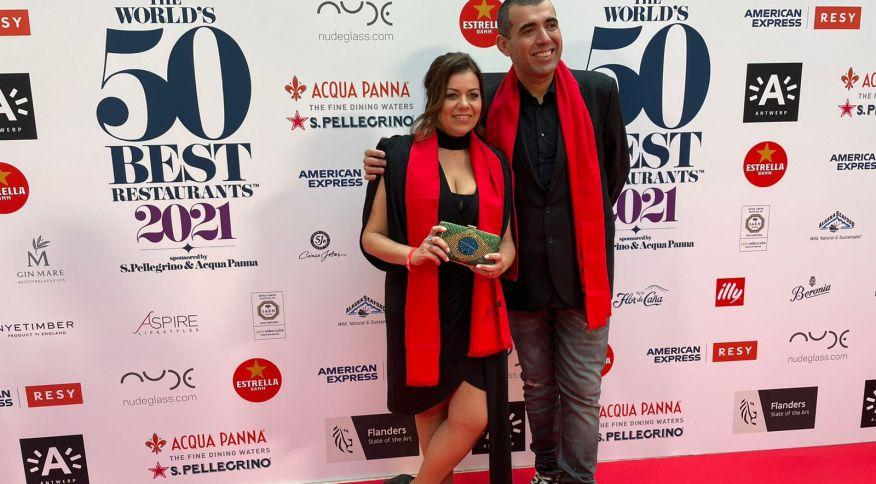 Restaurante dos chefs Jefferson e Janaína Rueda chega ao 17o lugar, subindo 22posições no ranking internacional